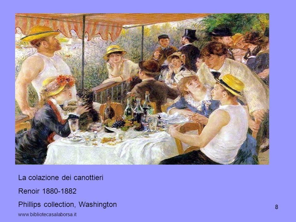 La colazione dei canottieri Renoir 1880-1882
