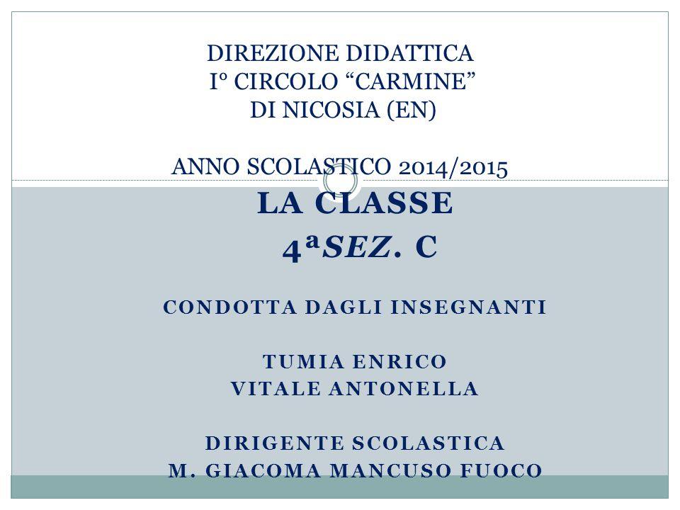 Condotta dagli insegnanti M. Giacoma Mancuso Fuoco