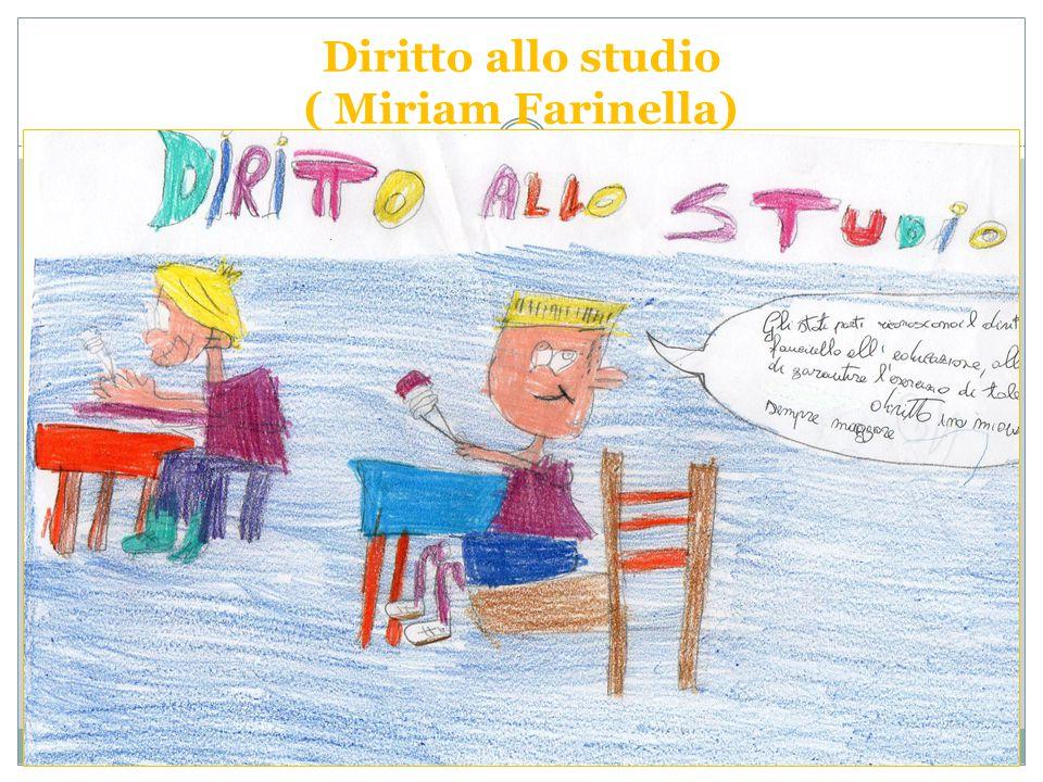 Diritto allo studio ( Miriam Farinella)