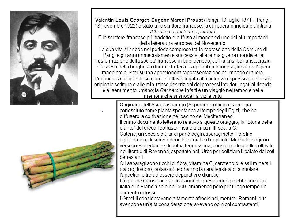 Valentin Louis Georges Eugène Marcel Proust (Parigi, 10 luglio 1871 – Parigi, 18 novembre 1922) è stato uno scrittore francese, la cui opera principale s intitola Alla ricerca del tempo perduto.