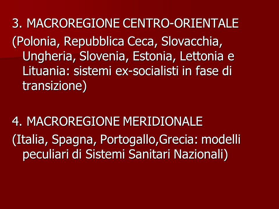 3. MACROREGIONE CENTRO-ORIENTALE