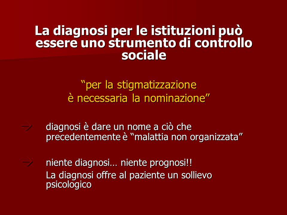  niente diagnosi… niente prognosi!!