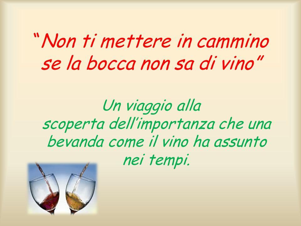 Non ti mettere in cammino se la bocca non sa di vino