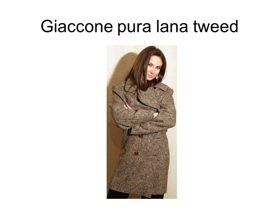 Giaccone pura lana tweed