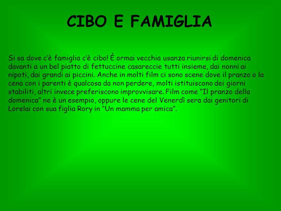 CIBO E FAMIGLIA