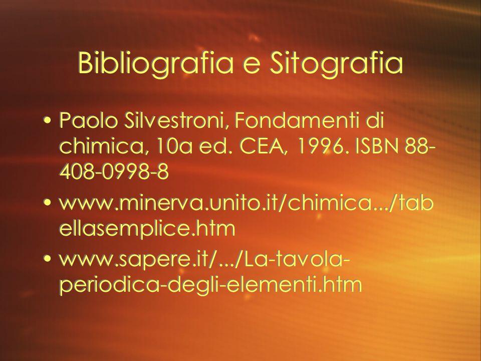 Bibliografia e Sitografia