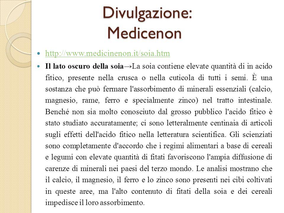 Divulgazione: Medicenon