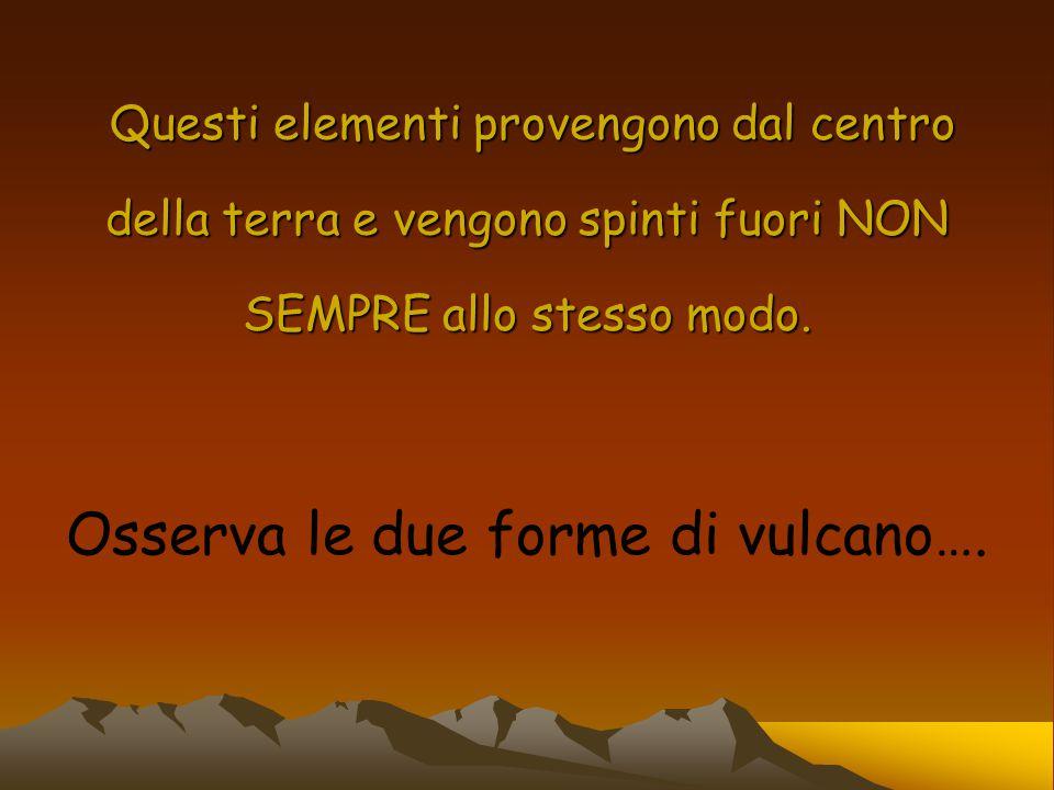Osserva le due forme di vulcano….