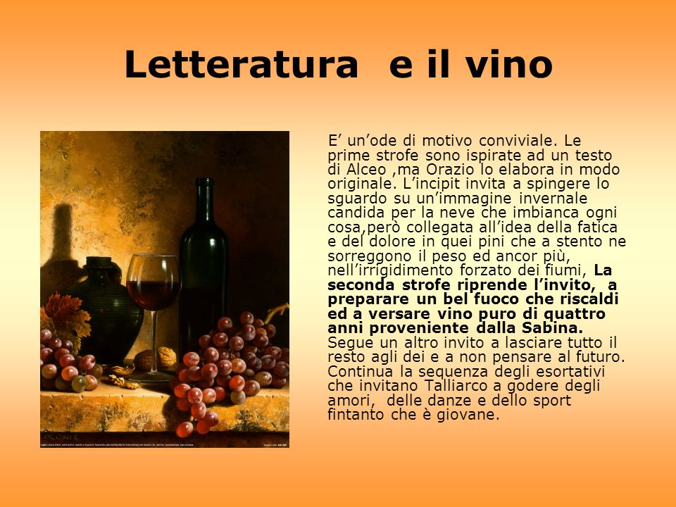 Letteratura e il vino