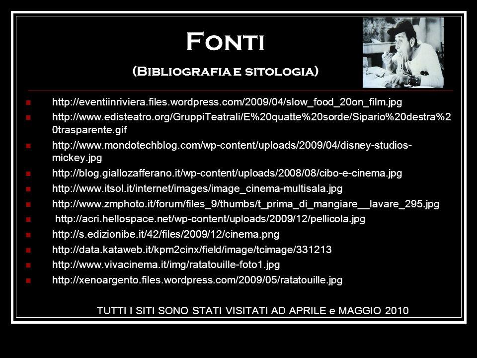 Fonti (Bibliografia e sitologia)
