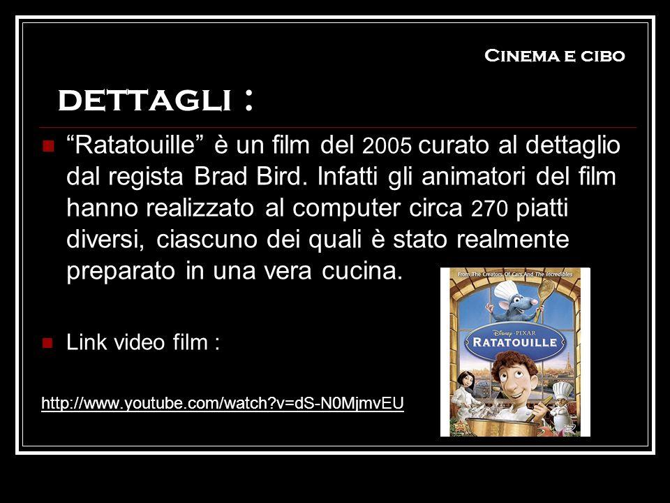 Cinema e cibo dettagli :