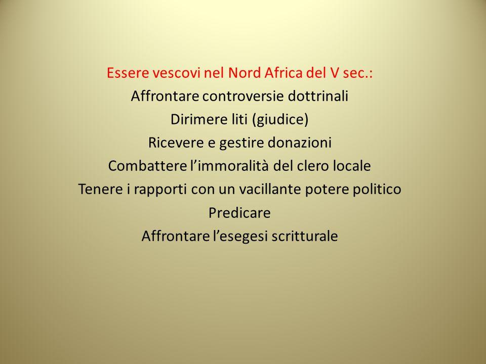 Essere vescovi nel Nord Africa del V sec