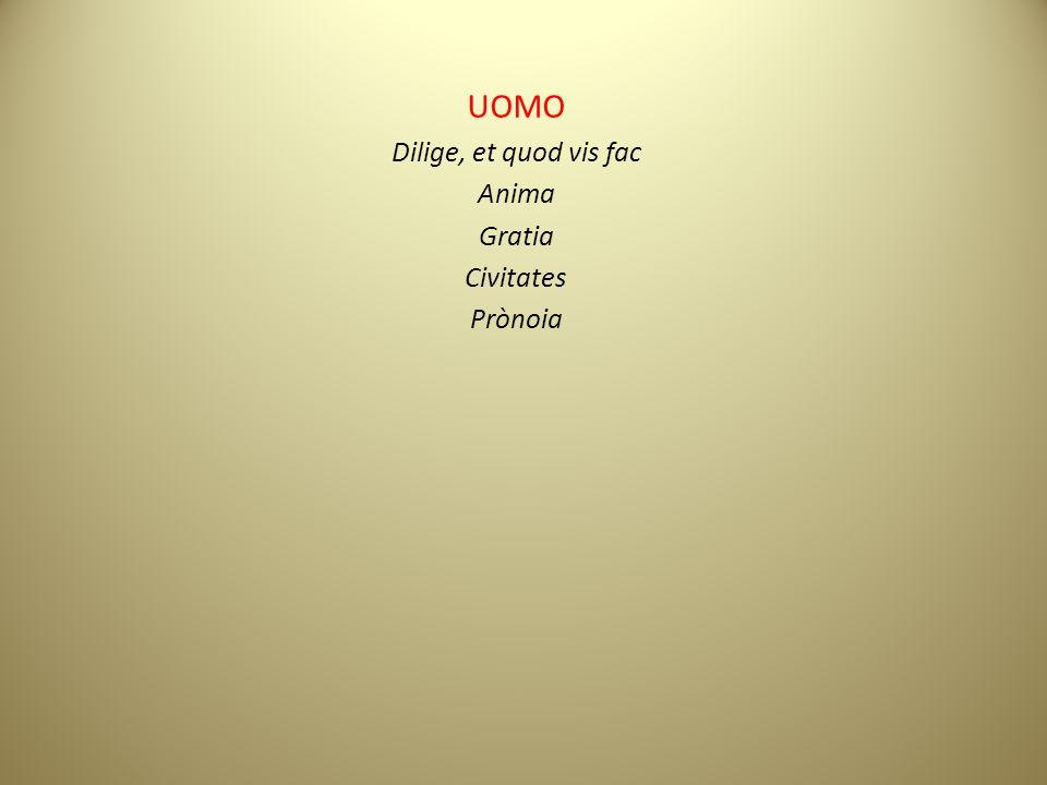 UOMO Dilige, et quod vis fac Anima Gratia Civitates Prònoia