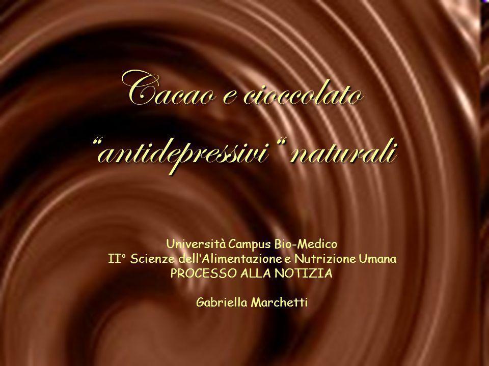 Cacao e cioccolato antidepressivi naturali
