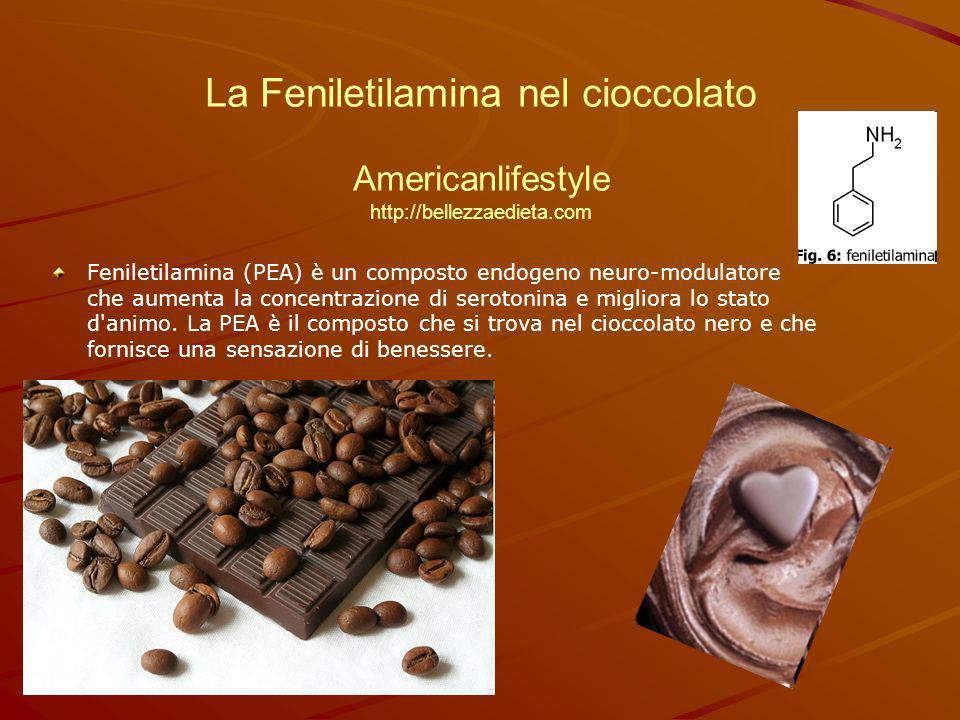 La Feniletilamina nel cioccolato Americanlifestyle http://bellezzaedieta.com