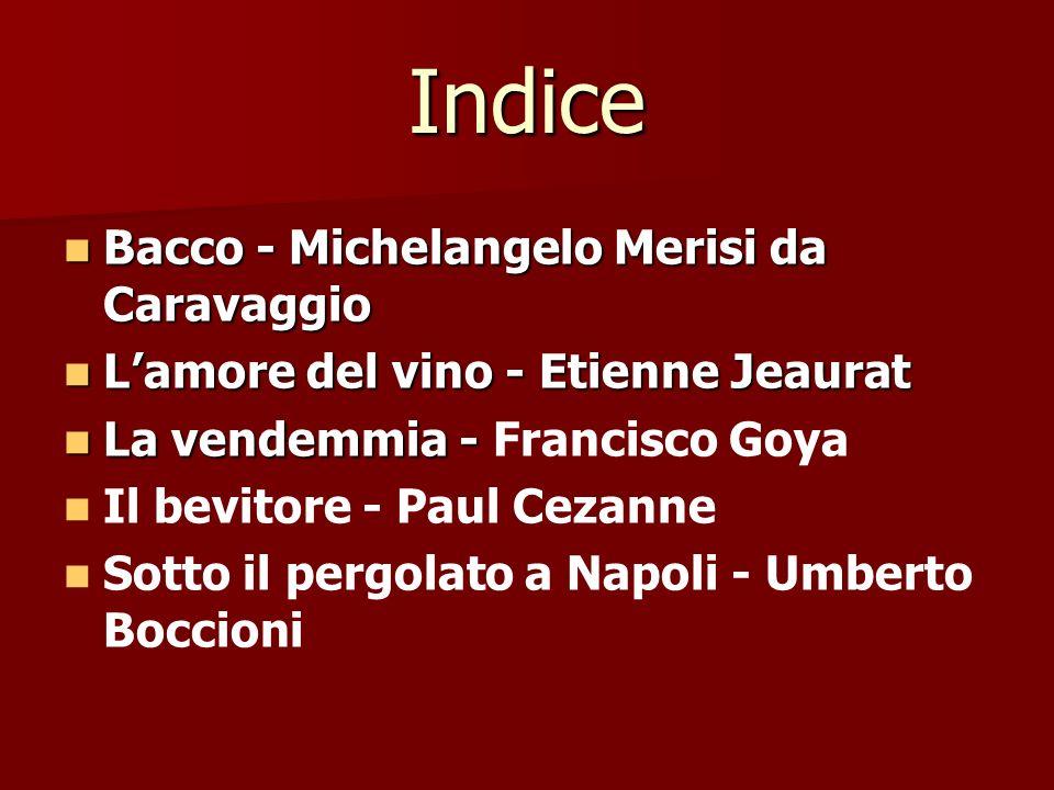 Indice Bacco - Michelangelo Merisi da Caravaggio