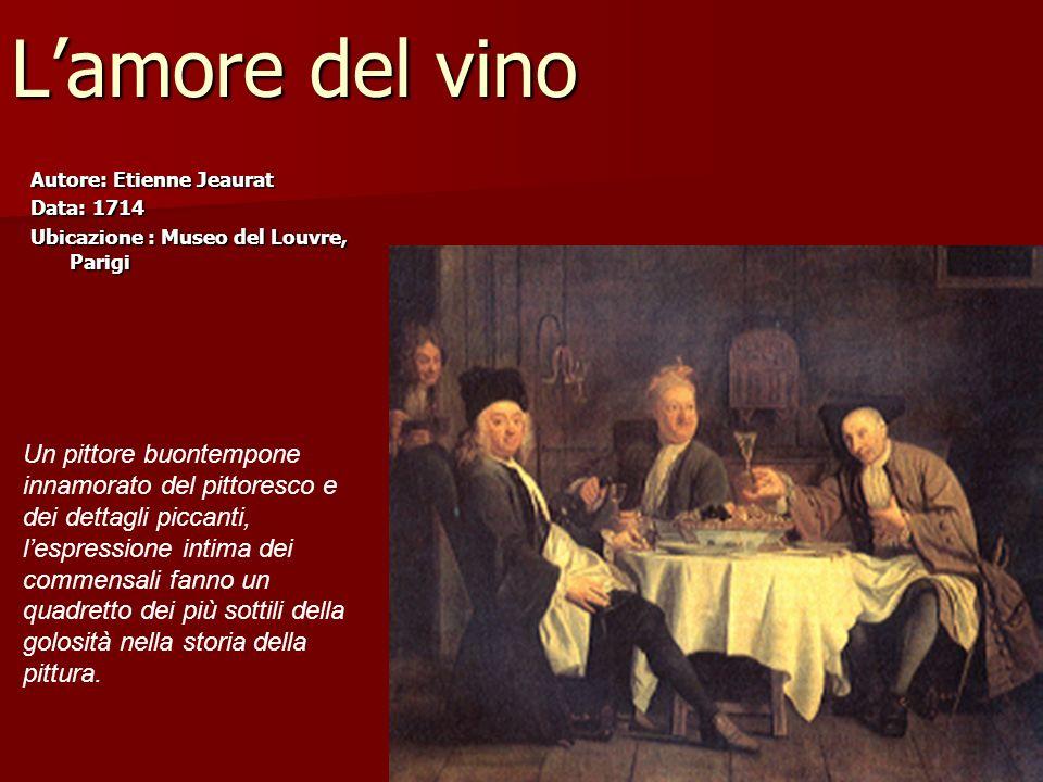 L'amore del vino Un pittore buontempone