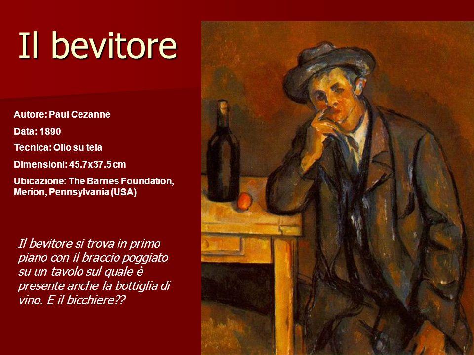 Il bevitoreAutore: Paul Cezanne. Data: 1890. Tecnica: Olio su tela. Dimensioni: 45.7x37.5 cm.