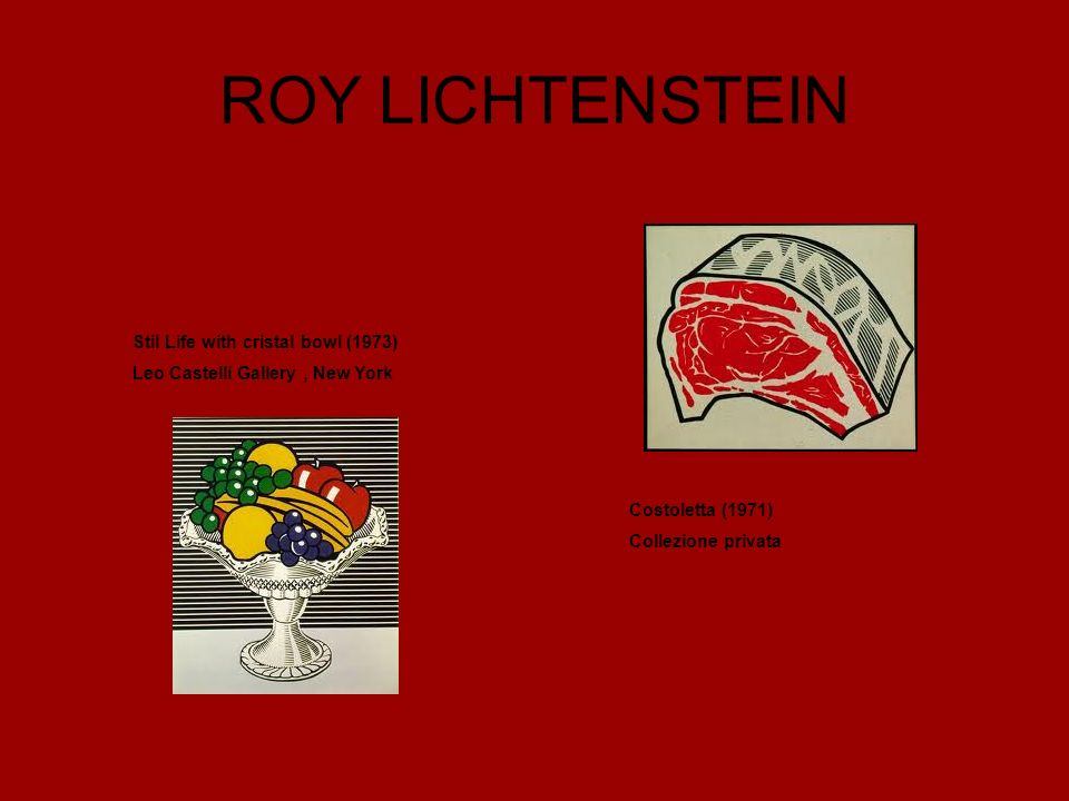 ROY LICHTENSTEIN Stil Life with cristal bowl (1973)