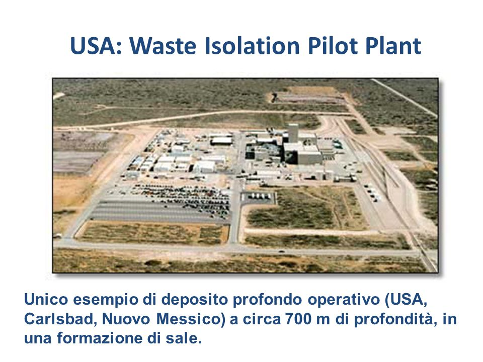 USA: Waste Isolation Pilot Plant