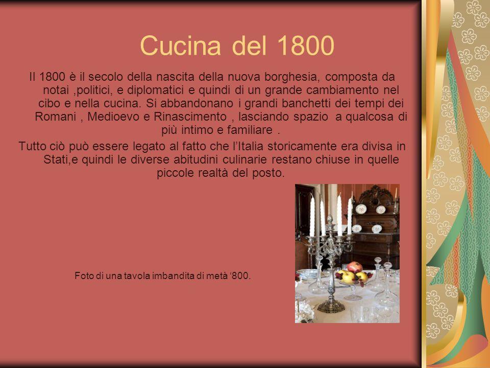 Cucina del 1800 Foto di una tavola imbandita di metà '800.
