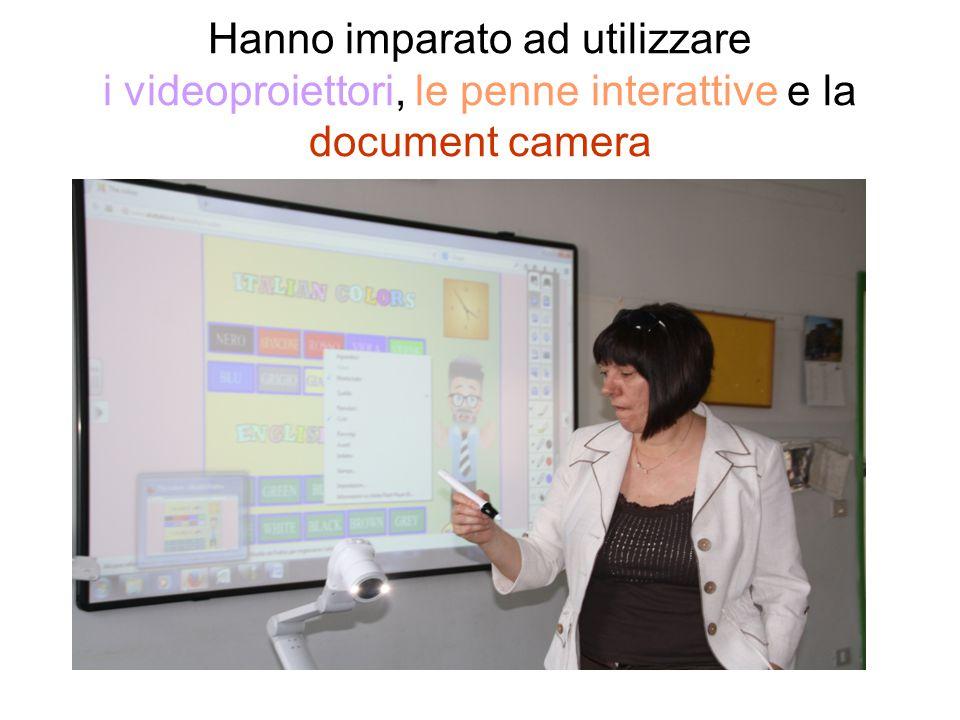 Hanno imparato ad utilizzare i videoproiettori, le penne interattive e la document camera