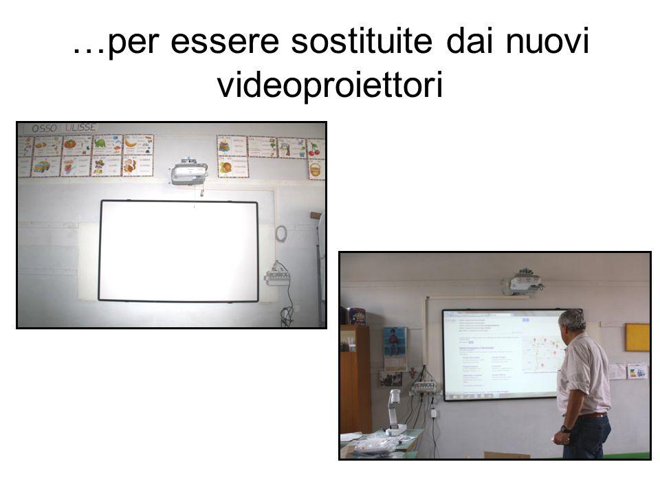 …per essere sostituite dai nuovi videoproiettori