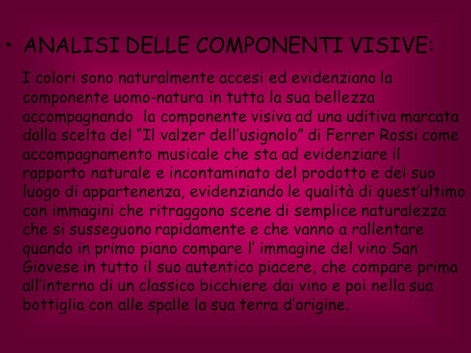 ANALISI DELLE COMPONENTI VISIVE: