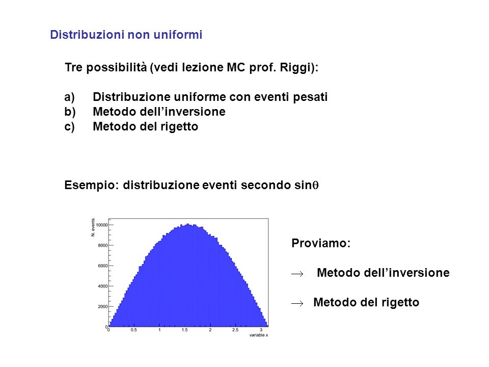 Distribuzioni non uniformi