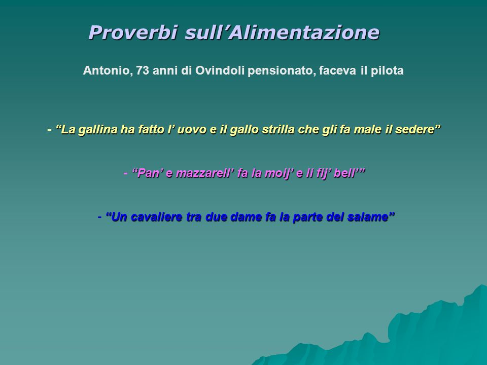 Proverbi sull'Alimentazione