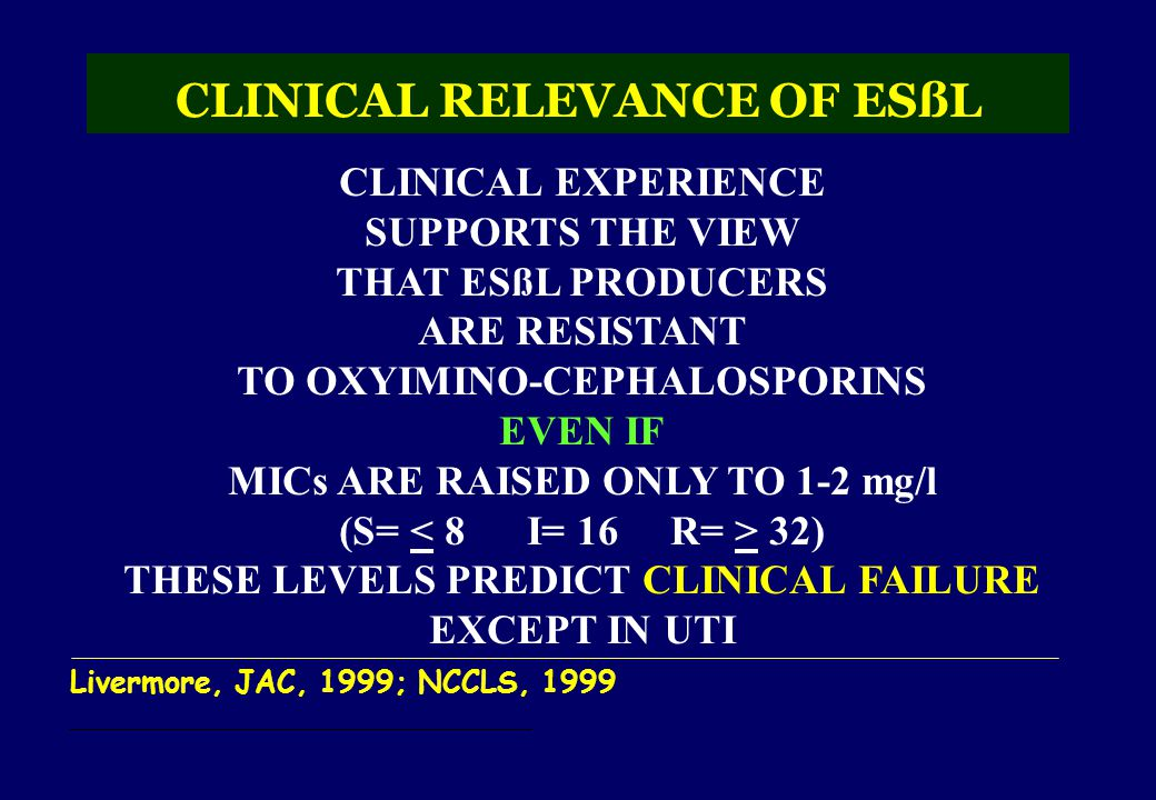 CLINICAL RELEVANCE OF ESßL