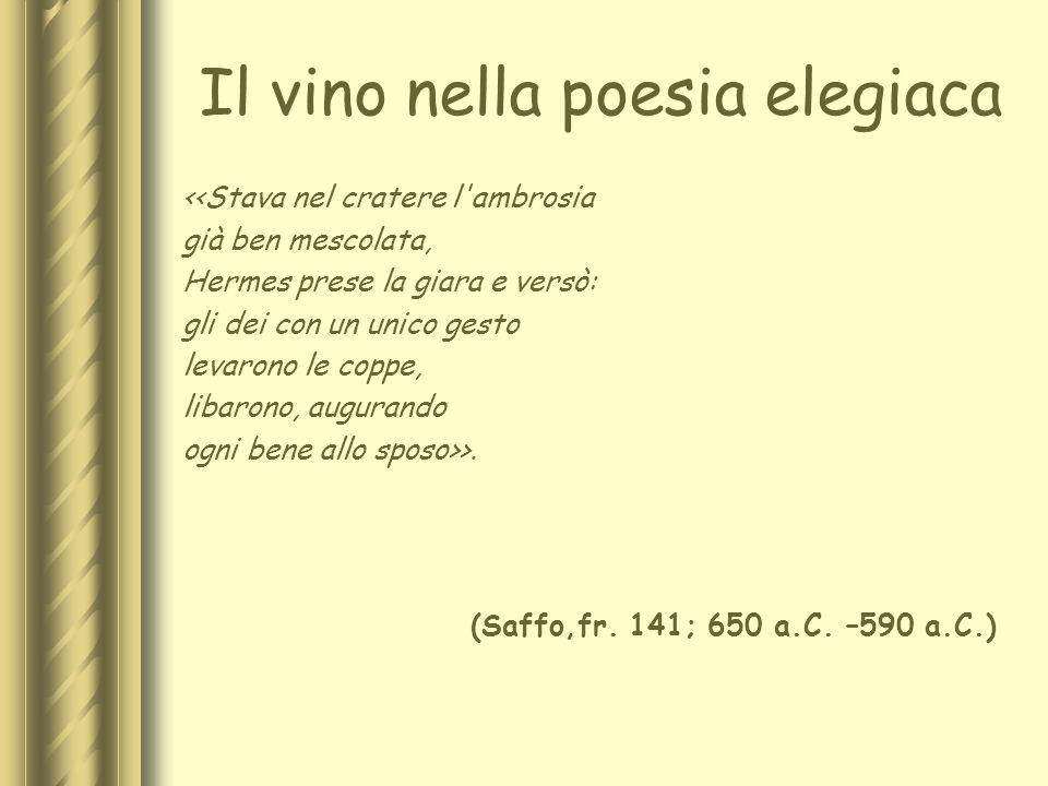 Il vino nella poesia elegiaca