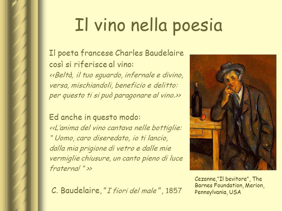 Il vino nella poesia Il poeta francese Charles Baudelaire