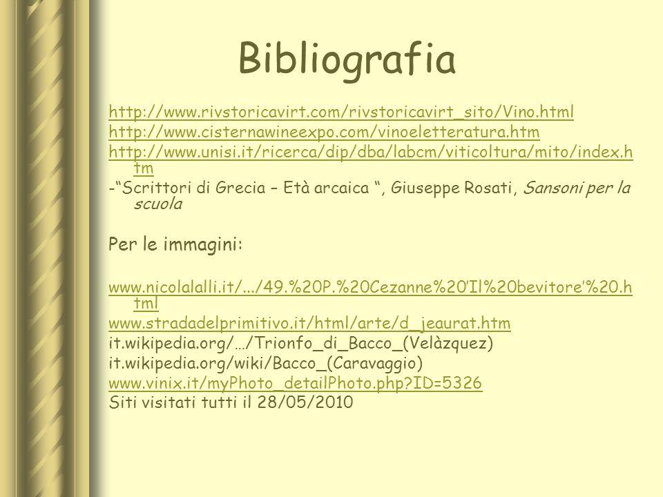 Bibliografia Per le immagini: