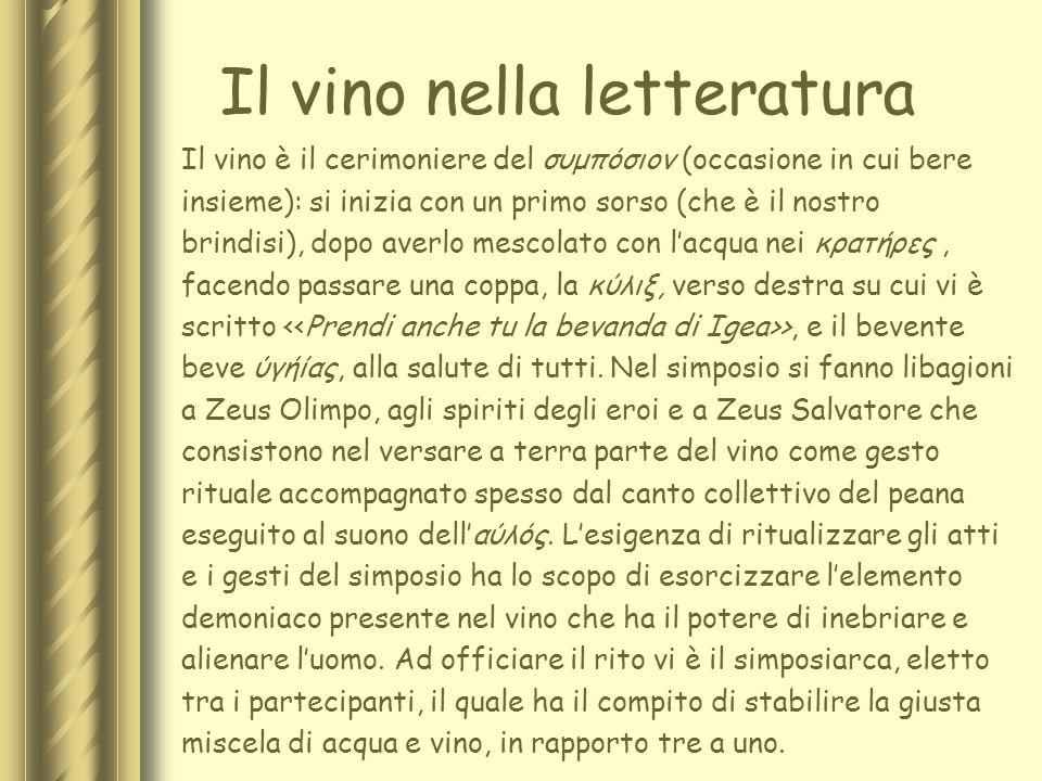 Il vino nella letteratura