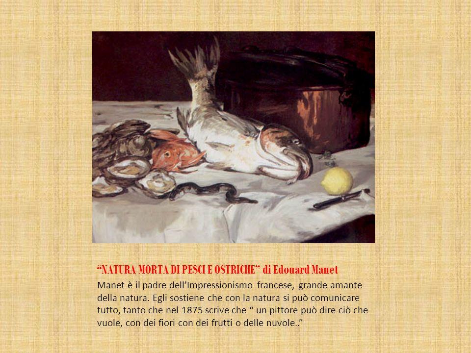 NATURA MORTA DI PESCI E OSTRICHE di Edouard Manet