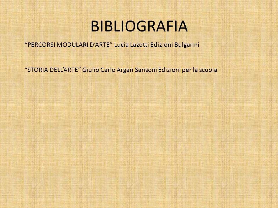 BIBLIOGRAFIA PERCORSI MODULARI D'ARTE Lucia Lazotti Edizioni Bulgarini.