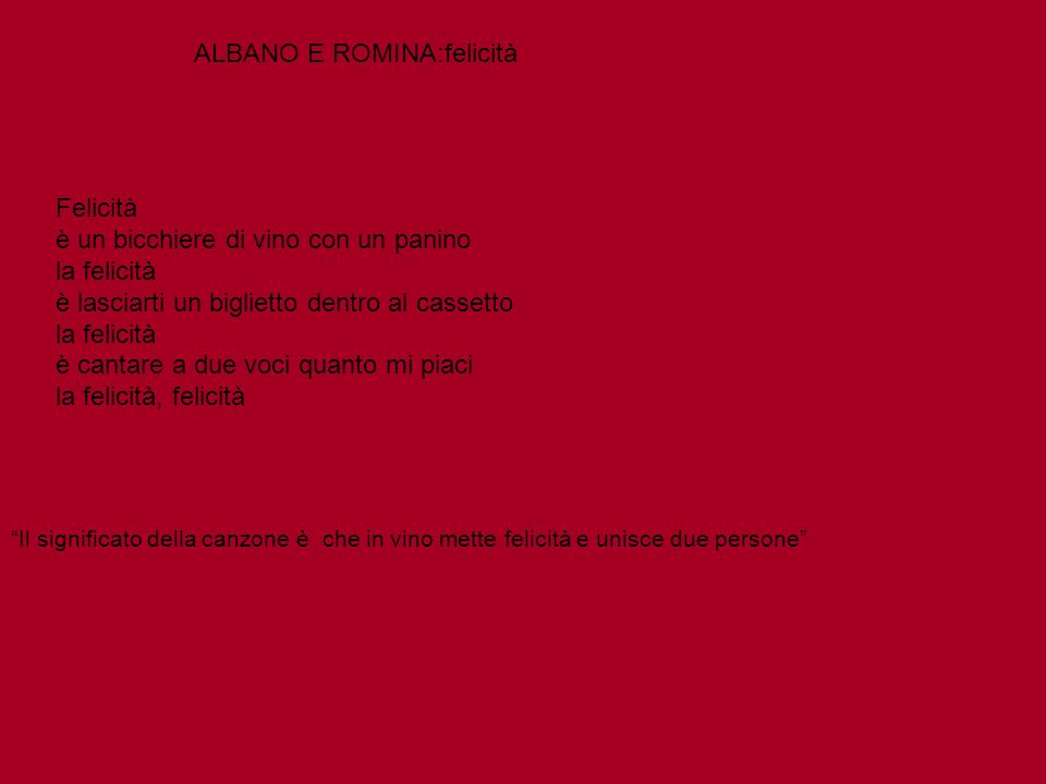 ALBANO E ROMINA:felicità