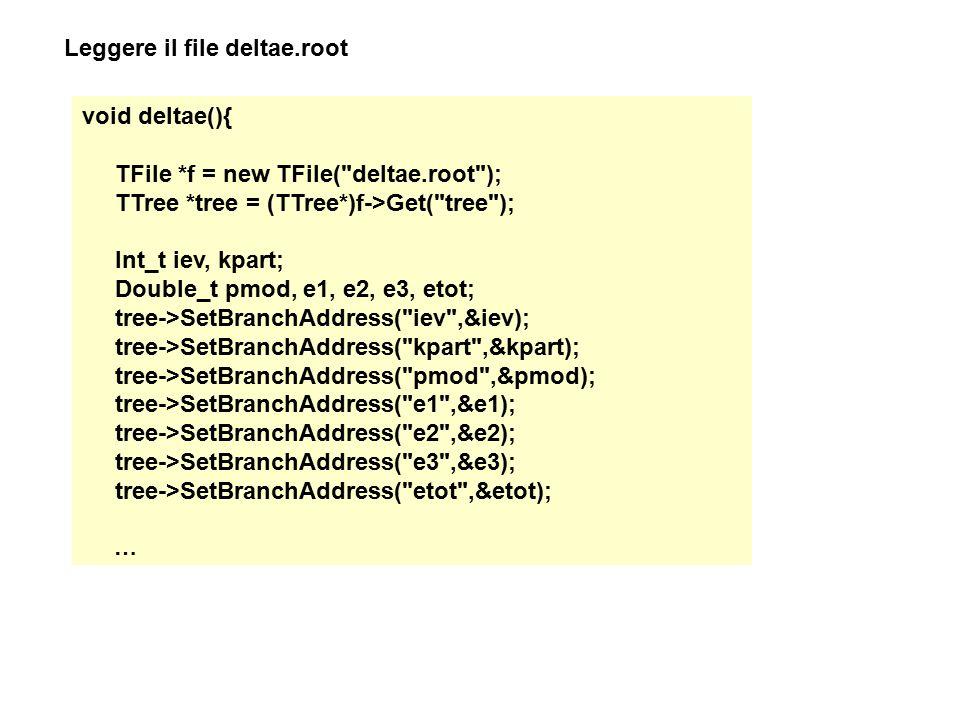Leggere il file deltae.root