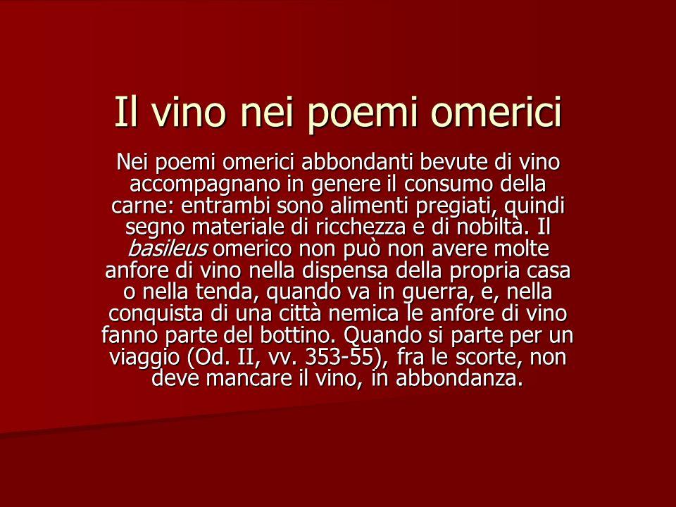 Il vino nei poemi omerici