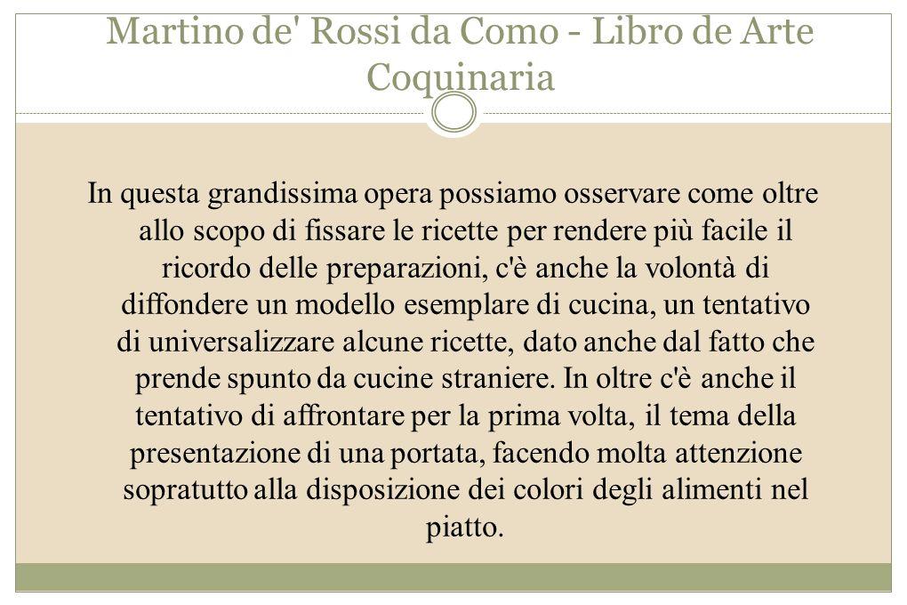 Martino de Rossi da Como - Libro de Arte Coquinaria