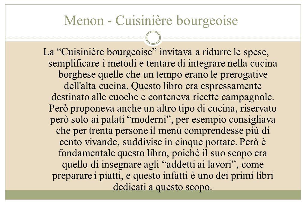Menon - Cuisinière bourgeoise