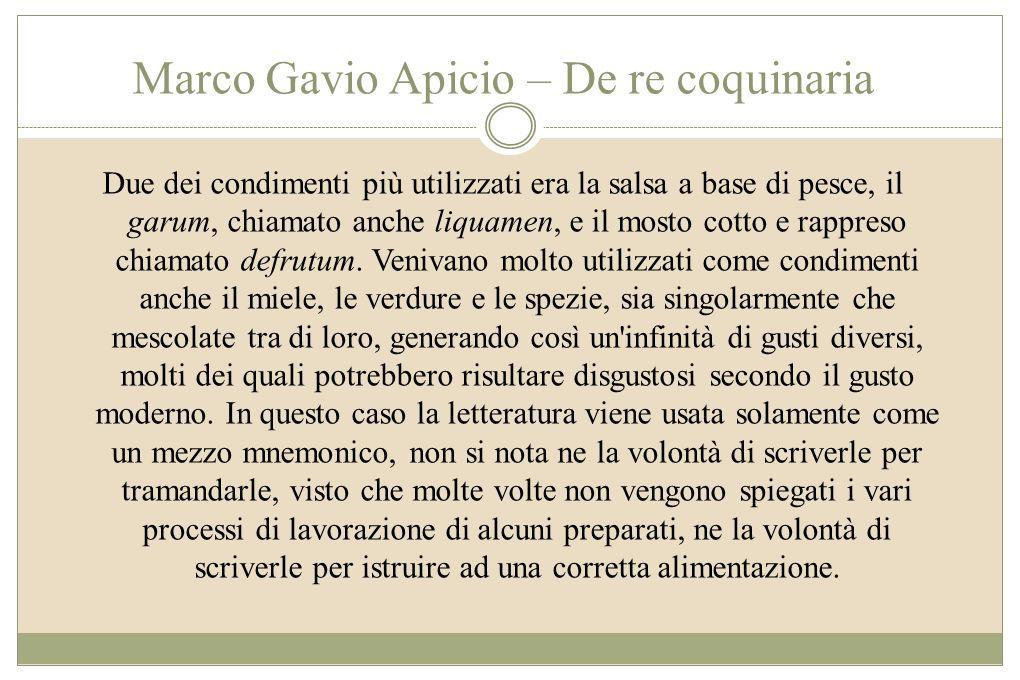 Marco Gavio Apicio – De re coquinaria