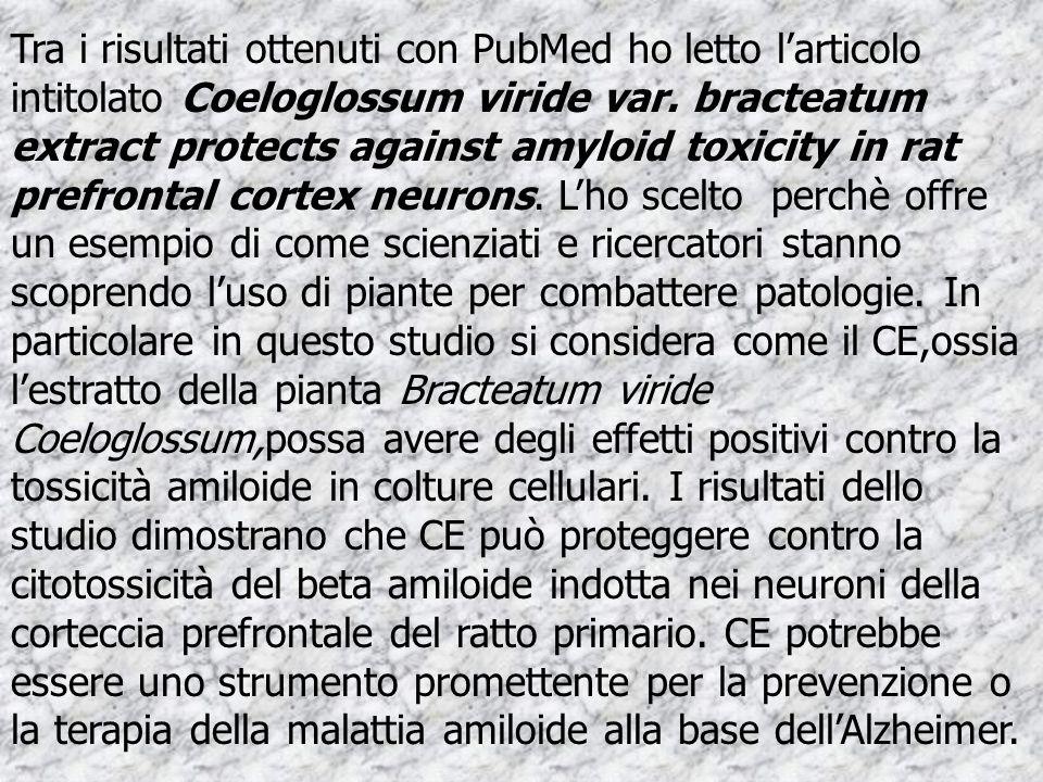 Tra i risultati ottenuti con PubMed ho letto l'articolo intitolato Coeloglossum viride var.
