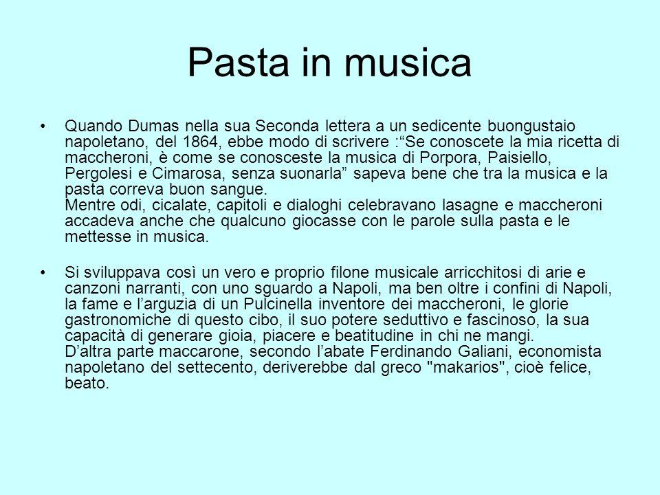 Pasta in musica