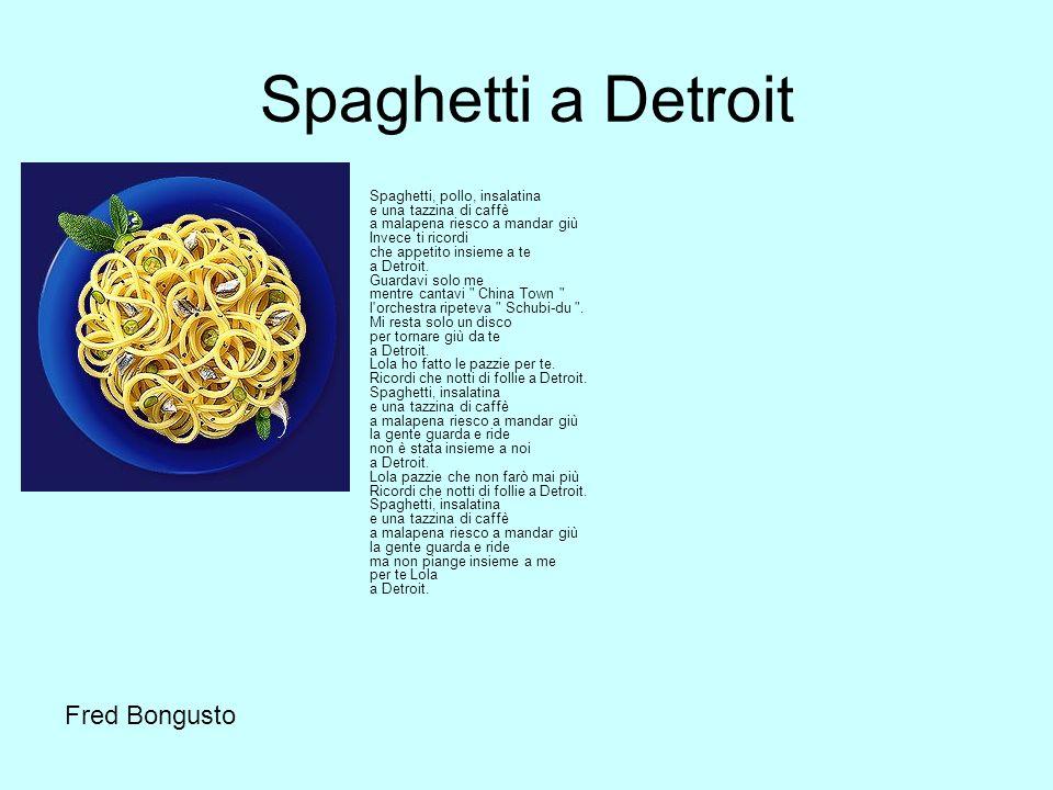 Spaghetti a Detroit Fred Bongusto