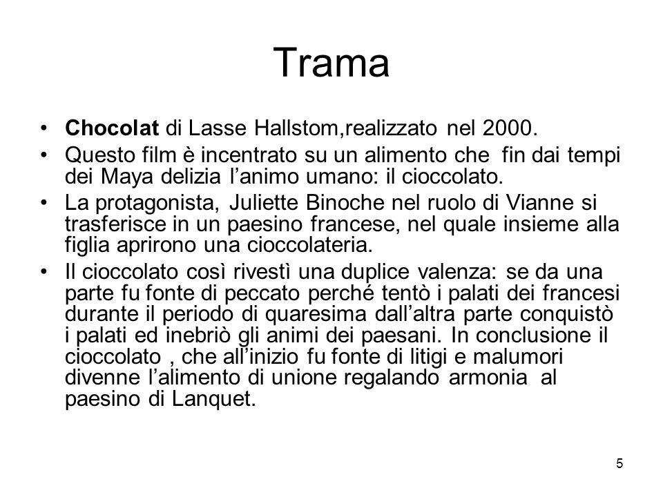 Trama Chocolat di Lasse Hallstom,realizzato nel 2000.