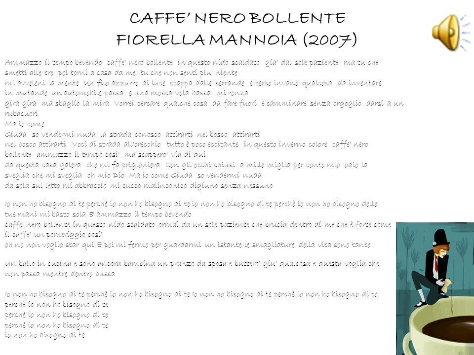 CAFFE' NERO BOLLENTE FIORELLA MANNOIA (2007)