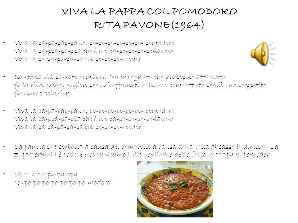 VIVA LA PAPPA COL POMODORO RITA PAVONE(1964)