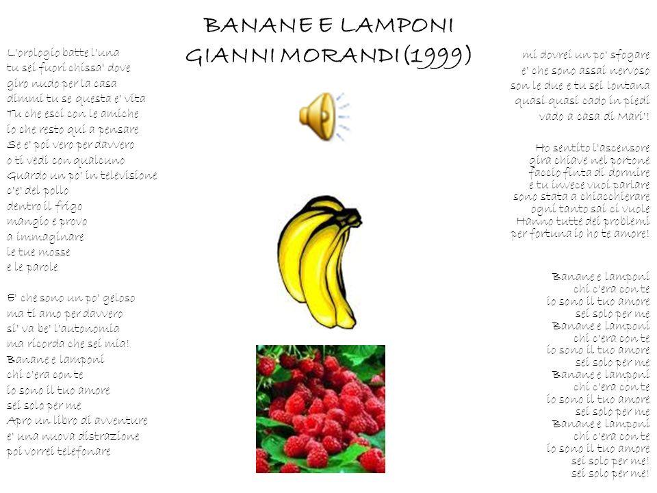 BANANE E LAMPONI GIANNI MORANDI(1999)